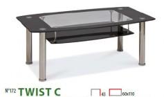 TWIST C CZARNY S 240x140 Ławy i stoliki