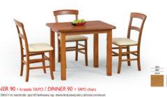 DINER 90 TAPO 240x140 Stoły i krzesła