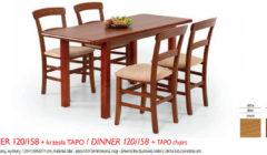 DINNER 120 158TAPO 240x140 Stoły i krzesła