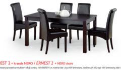 ERNEST 2NERO 240x140 Stoły i krzesła