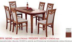 FRYDERYK 160 240CITRONE 240x140 Stoły i krzesła