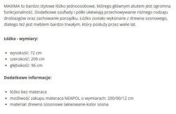 MAXIMA 1 250x162 ŁÓŻKO MAXIMA